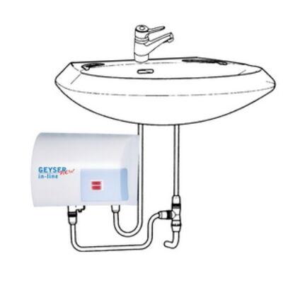 GEYSER IN LINE SINK Átfolyásos vízmelegítő egykaros csaptelephez zárt rendszerre
