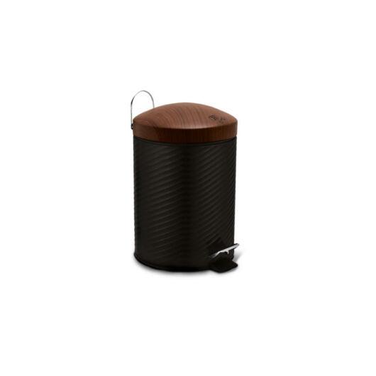 Berlinger Haus Ebony Rosewood Line rozsdamentes szemetes, 12 L, fekete/rózsafa BH/6450