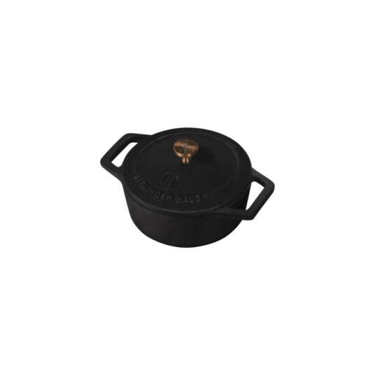 Berlinger Haus Fekete Rosegold Öntöttvas Mini Lábas Fedővel BH/6490